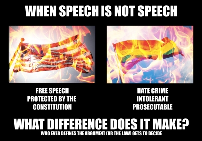 Flag burning: speech or hate?